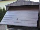 Garaż dach dwuspadowy, brama uchylna, w akrylu - 3
