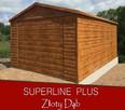 Garaż dach dwuspadowy, brama uchylna, w akrylu - 6