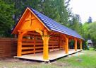 Garaż drewniany wiata drewutnia altanka ogrodowa altana