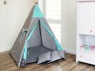 TIPI namiot dla dzieci, wigwam, teepee BAWEŁNIANY