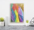 nowoczesny obraz 21x30, kolorowa abstrakcja - 3