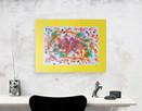 nowoczesny obraz 30x40, kolorowa abstrakcja na ścianę - 2