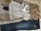 Spodnie, bluzka ciążowe rozmiar 40/42 - jeans, sztruks