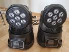 Nowa ruchoma głowa Lixada 105W LED RGBW pilot - 3