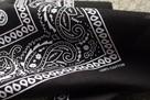 czarna bandana maska apaszka arafatka
