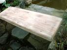 Półka, blat wykonany z belek drzewa konstrukcyjnego
