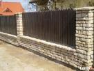 KRISBUD Wieliczka ogrodzenie z kamienia z klinkieru z siatki Wieliczka
