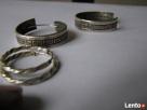 SREBRNE KOLCZYKI KOŁA DROGA GRECKA 2 szt pierścionek azurowy - 4