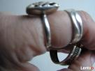 SREBRNE KOLCZYKI KOŁA DROGA GRECKA 2 szt pierścionek azurowy - 3