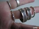 SREBRNE KOLCZYKI KOŁA DROGA GRECKA 2 szt pierścionek azurowy - 2