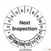 Etykiety inspekcyjne kontrolki przeglądów marki Brady - 6