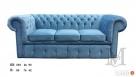 Sofa Chesterfield 3-osobowa - plusz - kanapa różne kolory - 4