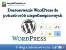 Dostosowanie WordPress do potrzeb osób niepełnosprawnych Wrocław