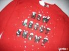 H&M Uroczy Sweter Motyw Śniegu Cekiny NOWY 36 S XS - 3
