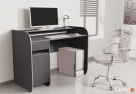 Nowoczesne biurko komputerowe Detalion dwu kolorowe - 5