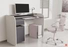 Nowoczesne biurko komputerowe Detalion dwu kolorowe - 2