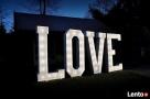 Produkcja napisów z żarówkami LOVE Miłość RM & MRS wysyłka