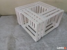 Stolik drewniany,stolik ze skrzynek Hajnówka