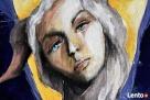 Anioł malowany na drewnie ANIOŁ ZIEMI artystki A. Laube - 5