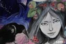 Obraz na drewnie ANIOŁ MAGICZNY 2 artystki A. Laube - 6