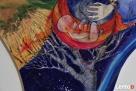 Anioł malowany na drewnie ANIOŁ DOULI artystki A. Laube - 7