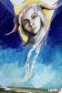 Anioł malowany na drewnie ANIOŁ ZIEMI artystki A. Laube - 6