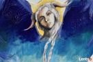 Anioł malowany na drewnie ANIOŁ ZIEMI artystki A. Laube - 7