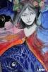 Obraz na drewnie ANIOŁ MAGICZNY 2 artystki A. Laube - 4