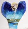 Anioł malowany na drewnie ANIOŁ ZIEMI artystki A. Laube - 1