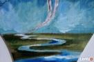 Anioł malowany na drewnie ANIOŁ ZIEMI artystki A. Laube - 4