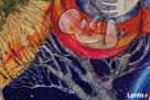 Anioł malowany na drewnie ANIOŁ DOULI artystki A. Laube - 3