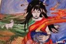 Anioł malowany na drewnie ANIOŁ DOULI artystki A. Laube - 6