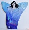 Anioł malowany akrylami na drewnie ANIOŁ GŁĘBI OCEANU obraz Katowice