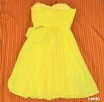 Żółta sukienka Wesele roz S 36 Mango tjulowa Wys 10zł - 4