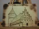 Zamek Olsztyn - Ręcznie Wypalany - naturalna deska lipowa