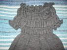 Szara sukienka na zimę, ok.116cm - 1
