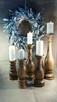 Dekoracje świeczniki toczone drewniane wyroby Rękodzieło - 3