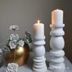 Dekoracje świeczniki toczone drewniane wyroby Rękodzieło - 1