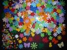 Scrapki 400 szt Kwiatki Motylki Koniczyna Listki Gwiazdki Ku