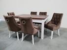 Krzesło z kołatką ćwiekami pinezkami tapicerowane pikowane