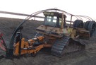 Pługoukładacz Goliat z spycharką Caterpillar D6M na sprzedaż