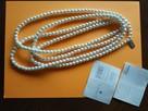 Naszyjnik ze szklanych pereł biały