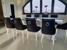 Krzesło z kołatką pikowane tapicerowane chesterfield hampton