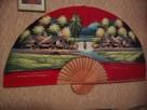 Wielokolorowy duży 150cm wachlarz na ścianę