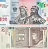 BANKNOT 20 zł 1050 Chrztu DŁUGOSZ NISKI NUMER AB0000771