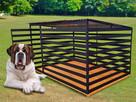 Mocny kojec dla psa BRUTUS 3x2m czarny profil