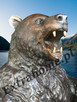 Niedźwiedź Unikatowa rzeźba z brązu H210cm Miś , niedźwiadek